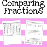 Comparing Fractions Independent Practice and Formative Assessment