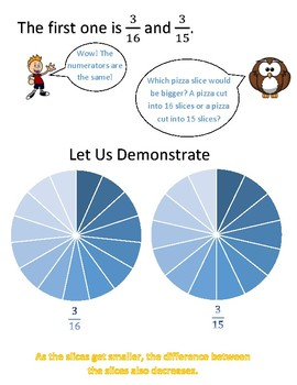 Comparing Fractions Instructional Sheet 1
