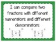 Comparing Fractions Interactive Notebook Activity & Quick Check TEKS 4.3D