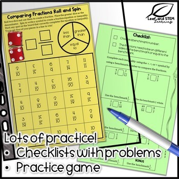Comparing Fractions Interactive Notebook Set