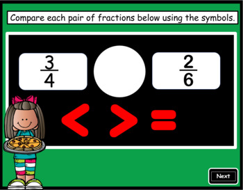 Comparing Fractions ~ Interactive PPT Game