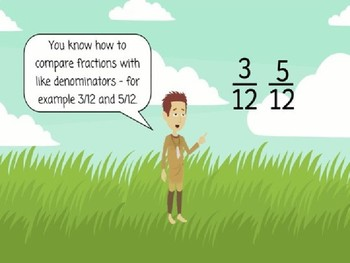 Comparing Fractions- Introducing Common Denominators
