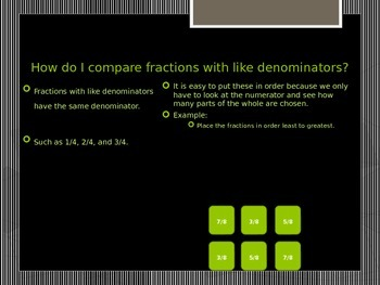 Comparing Fractions Less Than One PowerPoint
