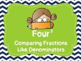 Comparing Fractions Like Denominators