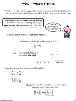 Comparing Fractions Made Easy (Mini Bundle)