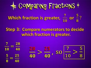 Comparing Fractions Made Easy (PowerPoint Only)