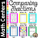 Comparing Fractions Math Centers Bundle