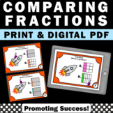Comparing Fractions with Visuals, 3rd Grade Fraction Task Cards