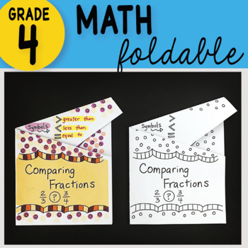 Comparing Fractions Math Interactive Notebook Foldable