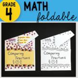 Math Doodle - Comparing Fractions ~ INB Foldable Notes ~