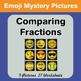 Comparing Fractions - Math Mystery Pictures / Color By Num