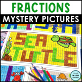 Comparing Fractions Mystery Pictures - Ocean Edition