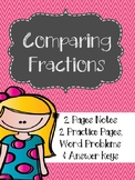 Comparing Fractions Notes & Practice Grades 4-6