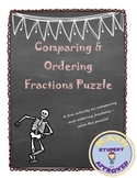 Comparing Fractions; Ordering fractions least to greatest Fun Riddle