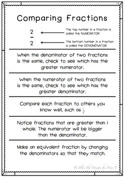 Comparing Fractions Packet