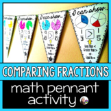Comparing Fraction Size Math Pennant Activity