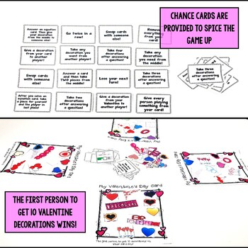 Valentine's Day Comparing Fraction Pictures Game