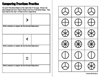 Comparing Fractions Practice