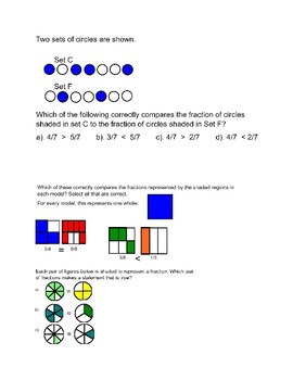 Comparing Fractions Practice Questions