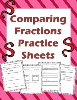 Comparing Fractions Practice Sheets