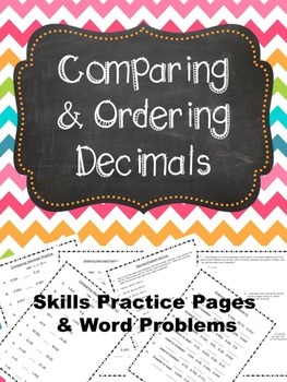 Comparing & Ordering Decimals Practice and Word Problems