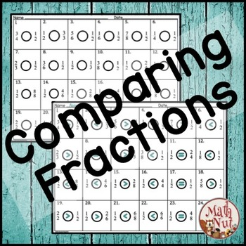 "Comparing Fractions ""Fractions Printables"""