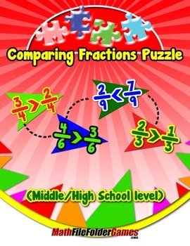 Comparing Fractions Puzzle