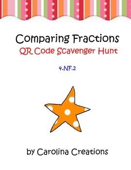 Comparing Fractions QR Code Scavenger Hunt - 4.NF.2