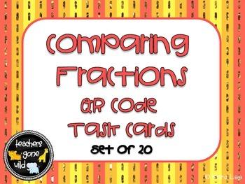 Comparing Fractions QR Code Task Cards - set of 20