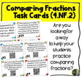 Comparing Fractions QR Task Cards