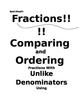 Comparing Fractions Quick Peek