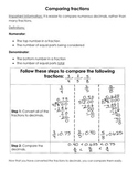Comparing Fractions Resource