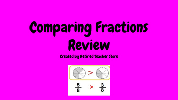 Comparing Fractions Review