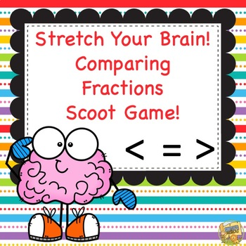 Comparing Fractions SCOOT Games - Grades 3 and 4 Common Core Aligned