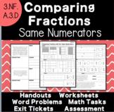 Comparing Fractions - Same Numerators - 3.NF.A.3.d