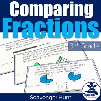 Comparing Fractions Scavenger Hunt