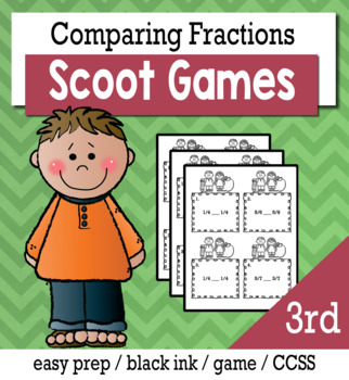 Comparing Fractions  - Scoot Game/Task Cards