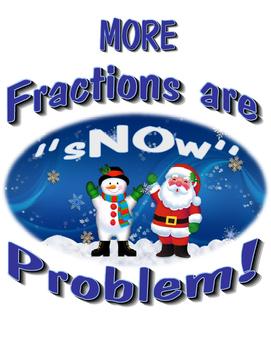 Comparing Fractions Snowman Unit