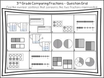 Comparing Fractions: Solve, Snip & Stick Activity: TEKS 3.3H