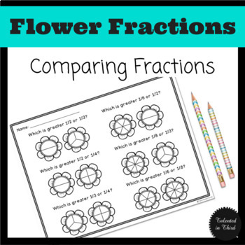 Fractions - Comparing Fractions - Spring/Earth Day Theme