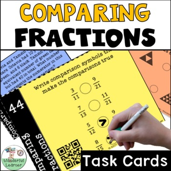 Comparing Fractions Task Cards (not multiple choice)