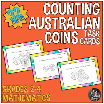 Counting Australian Coins Task Cards