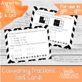 Comparing Fractions Task Cards | TEKS 4.3d | TEKS 6.2c | Math Intervention