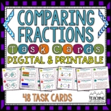 Comparing Fractions Task Cards | Distance Learning | Google Classroom