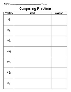 Comparing Fractions Task Cards (My Math, Chapter 8, Lesson 6)
