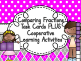 Editable Comparing Fractions Task Cards PLUS Cooperative L