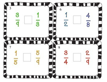 Comparing Fractions Task Cards - Set of 24 Common Core Aligned
