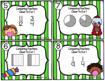 Comparing Fractions Task Cards: Strategy Based
