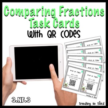 Comparing Fractions Task Cards {With QR Codes!}