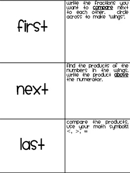 Comparing Fractions Task Cards and Activity